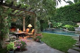 Tropical Mediterranean Backyard Garden Landscape A Mediterranean Simple Mediterranean Garden Design Image