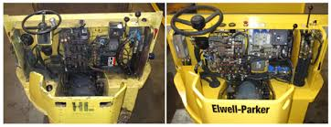 fsip s blog new remanufactured electronics for forklifts golf before and after images showing an fsip conversion kit installed in an elwell parker l15