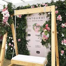 Lovely Backdrop Setting For Garden Parties Summer Events Or Weddings