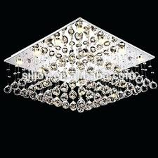 modern square chandelier modern square rain drop clear led crystal chandelier gisela modern square crystal flush