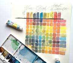 Color Mixing Chart Made With Van Gogh Artist Watercolors