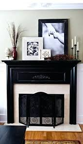 decorating fireplace mantel for with lanterns electric