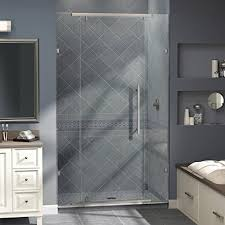 bathroom stall door. Frameless Pivot Shower Door, Brushed Nickel Finish, SHDR-21467610-04 Bathroom Stall Door W