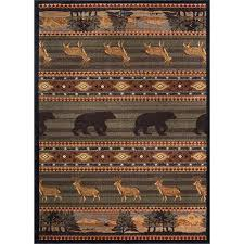 ntr6588 5x8 5 x 7 medium green brown and tan area rug nature