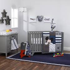 hello world mickey mouse collection 4pc crib bedding set