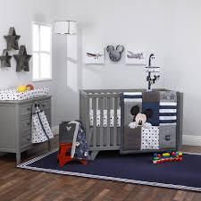 hello world mickey mouse collection 4pc crib bedding set