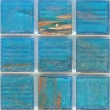 cool glass tile backsplash kitchen turquoise