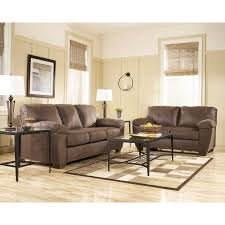 Living Room Sofa Sets For Walnut Bradely Living Room Group 6 Pc With 3 Pc Occasional Table Set