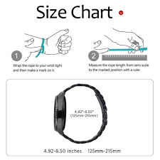 Watch Band Size Chart Us 3 92 48 Off Aliexpress Com Buy 22mm 20mm Stainless Steel Metal Watch Band For Samsung Gear S3 Frontier Gear S2 Classic Easy Release Watch Band