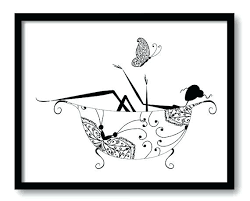 black and white bathroom art black white bathroom decor bathroom print silhouette butterfly girl in a on bathroom wall art black and white with black and white bathroom art foxtrotter