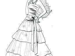 Barbie Dresses Coloring Pages Barbie Coloring Pages Fashion Dress