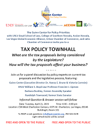 tax policy townhall guinn center for policy priorities description