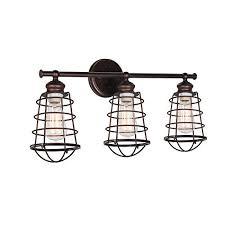 industrial bathroom lighting. Design House 519736 Ajax 3 Light Vanity Light, Bronze Industrial Bathroom Lighting