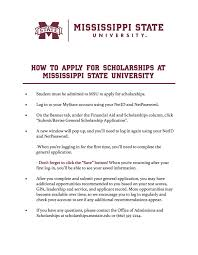 Scholarships Based On Sat Scores Scholarship Opportunities Mississippi State University