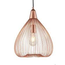 wire cage pendant light. Pumpkin Single Wire Cage Ceiling Pendant Light In Shiny Copper Finish 3591CU G