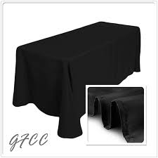 gfcc 6ft 90 x 132 inch seamless black rectangular tablecloth for wedding party decorations from
