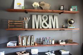 office shelves. diy industrial wood office shelving modish and main shelves