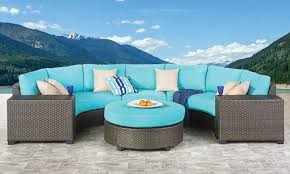 palm springs sectional side table ottoman set