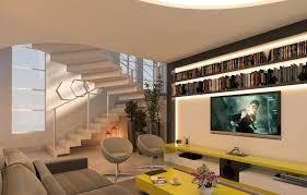 Com um projetor isso fica fácil,. Sala De Tv Moderna 60 Modelos Projetos E Fotos Para Decorar