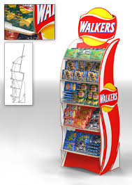 Crisp Display Stand Awesome Point Of Sale Renderings For Walkers Crisps And Mr Kipling Top Dog