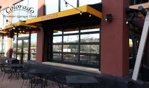 glass garage doors restaurant. Perfect Restaurant Restaurant Patio Garage Door Denver U0027 On Glass Doors T
