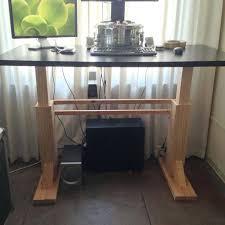 diy stand up desk electric height adjustable geek best sit t50