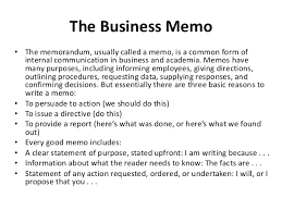 Business Memo Format Memo Writing
