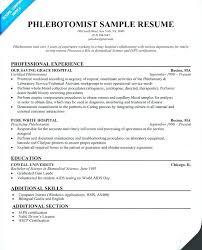 Phlebotomy Resume Examples Bitacorita