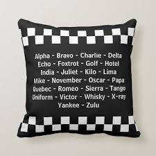 Not to be confused with international phonetic alphabet. Police Officer Phonetic Alphabet Radio Call Throw Pillow Zazzle Com