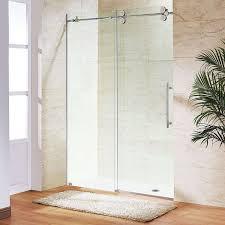 frameless glass shower elegant elan 74 x 52 frameless shower door 0 375