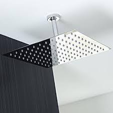 Perfect Shower Head Images Brand Solid Square Ultra Thin Rain Intended Impressive Ideas