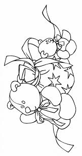 Small Picture Coloring Pages Christmas Wreath With Bow Coloring Page Free