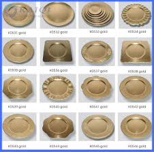 2016 hot wedding plastic gold charger plates plastic
