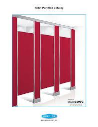 Bobrick Phenolic Color Chart Toilet Partition Catalog