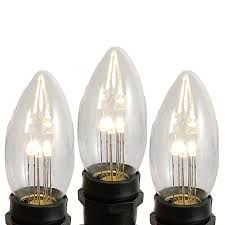 picture of warm white smooth glass c9 led bulbs 25pk