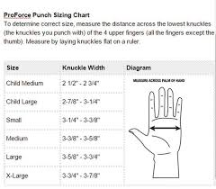 Proforce Sparring Gear Size Chart Proforce Lightning Martial Arts Sparring Gloves