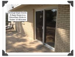 how to adjust sliding glass doors