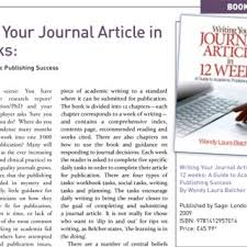 Journal Article Pdf Writing Your Journal Article In 12 Weeks A Guide To Academic