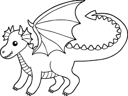 Similar of baby dragon coloring pages more images. Baby Dragon Coloring Page For Kids Coloring Rocks