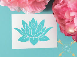 Lotus Flower Color Chart Glitter Lotus Flower Vinyl Decal Laptop Decal Sparkly Car Decal
