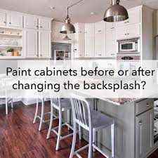 painting cabinets before or after