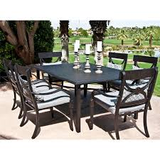 aluminum dining sets patio furniture. patio dining chair armless outdoor chairs rustic wooden garden with arched backrest aluminum sets furniture