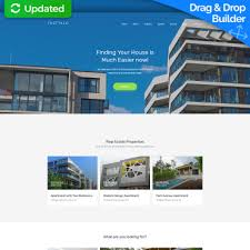 real state template commercial real estate website design for brokers motocms