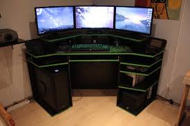 best gaming desk furniture outstanding gaming computer desk designs with black