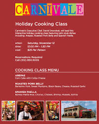carnivale holiday cooking class nowyouknow