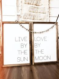 Timber And Gray Design Co Live By The Sun Set Of 2 Bohemian Style Wood Sign Boho