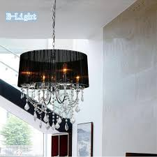 luxury crystal chandeliers light round lampshade bulb holder fabric lamp shade luminaire chandelier lamp free hanging ceiling light pendant lighting parts