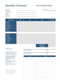 Bi Weekly Time Sheet Simple Biweekly Timesheet