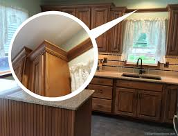 beautiful ideas installing crown molding on kitchen cabinets kitchens how to install crown molding or valance