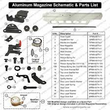 superior parts sp 885 827a aluminum magazine for hitachi nr83a nr83a2 framing nailers
